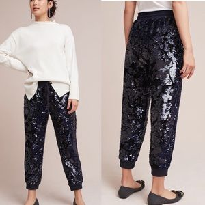Anthropologie Sequined Joggers ✨